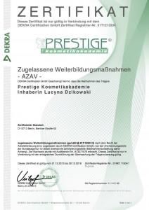 Zertifikat AZAV 1 Maßnahmen 81