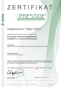Zertifikat AZAV 1 Träger